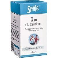 SMILE Q10 & L-Carnitine  30 caps
