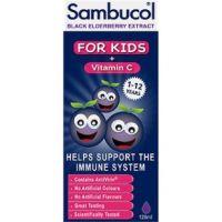 SAMBUCOL - Syrup for Kinds Black Elderberry + Vitamin C Παιδικό Σιρόπι (1-12 ετών) για Ενίσχυση Ανοσοποιητικού - 120ml