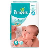PAMPERS Procare Premium Protection Size N0 (1-2.5kg) 38 Πάνες