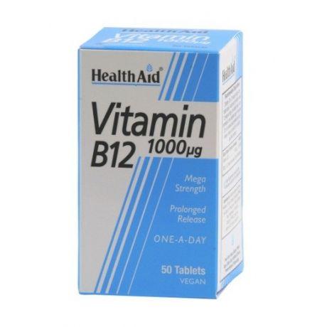 HEALTH AID Vitamin B12 1000mg Tabs 50s