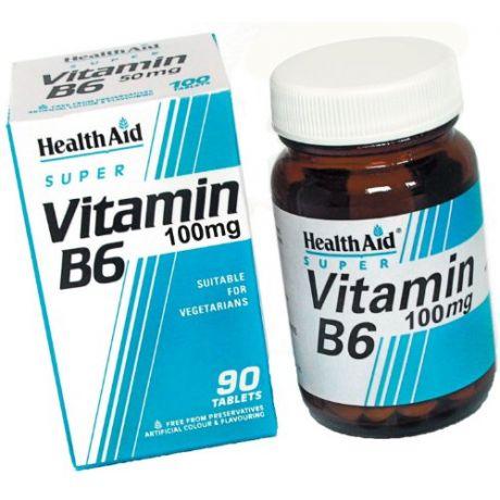 HEALTH AID Vitamin B6 100mg Tabs 90s
