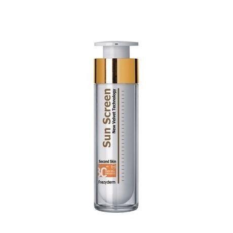 Frezyderm Sun Screen Color Velvet Face SPF30 - Αντηλιακή κρέμα προσώπου, βελούδινη υφή, ΜΕ ΧΡΩΜΑ (50ml)