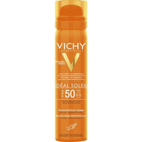 Vichy Ideal Soleil Baume Fraicheur Visage- Δροσερό Mist Προσώπου SPF 50 75 ml
