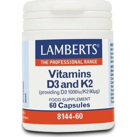LAMBERTS vITAMINS D3 and K2 60 capsules